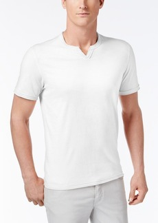 INC I.n.c. Men's Soft Touch Split-Neck T-Shirt, Created for Macy's