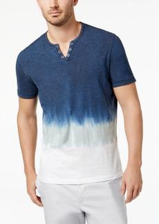 INC I.n.c. Men's Split-Neck Dip Dyed T-Shirt, Created for Macy's