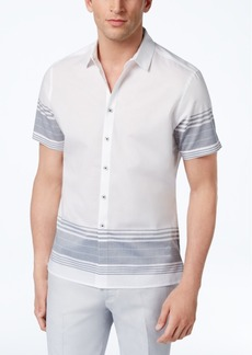 INC I.n.c. Men's Striped Cotton Shirt, Created for Macy's
