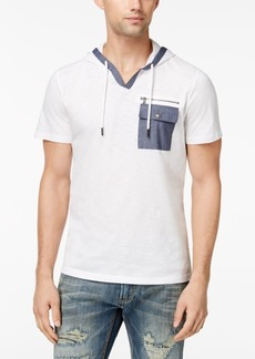 INC I.n.c. Men's Textured Hooded Pocket T-Shirt, Created for Macy's