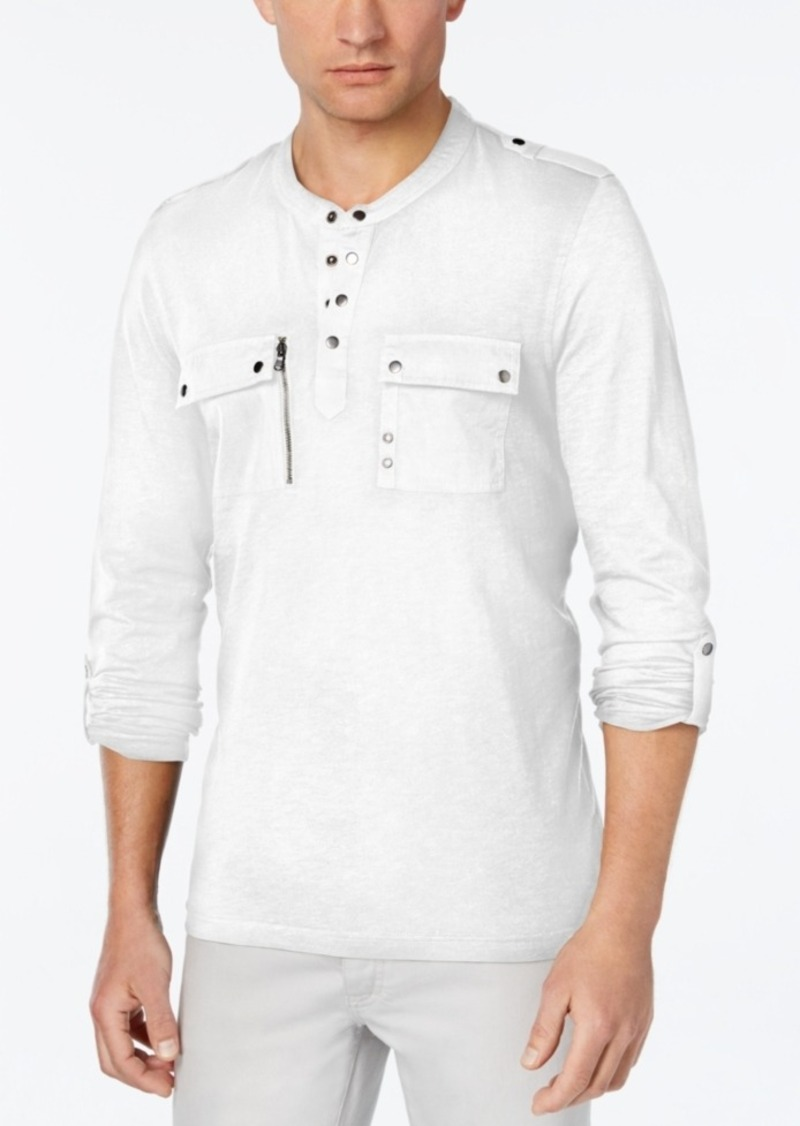 Inc International Concepts Men's Trainer Pocket Henley, Only at Macy's