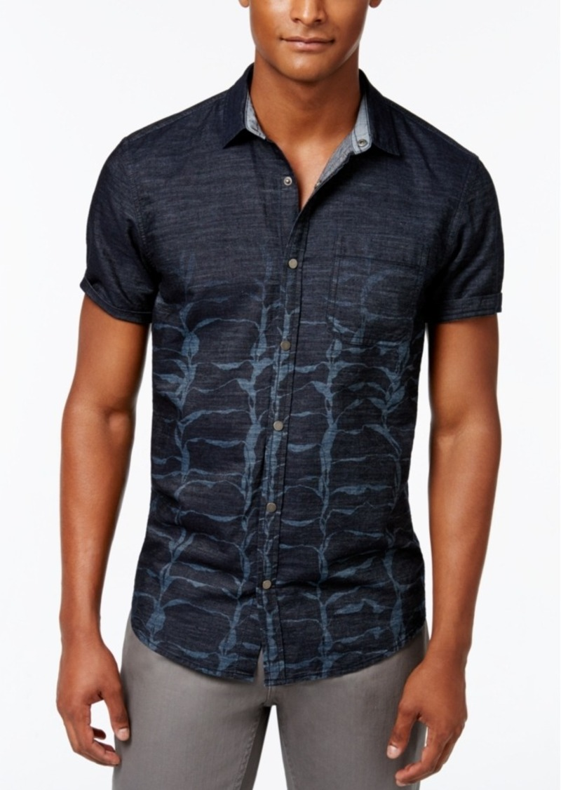 Inc International Concepts Men's Triassic Denim Short-Sleeve Shirt, Only at Macy's