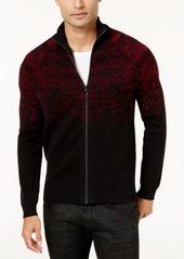 INC I.n.c. Men's Two-Tone Zip Sweater, Created for Macy's