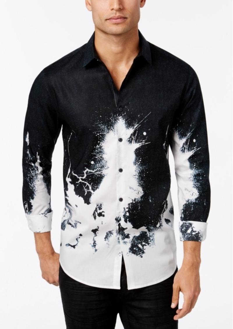 Inc International Concepts Men's Volta Splatter-Print Long-Sleeve Shirt, Only at Macy's