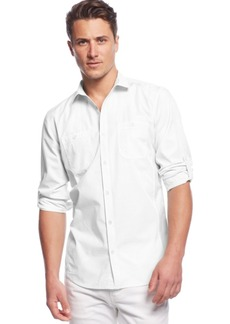 INC I.n.c. Men's Work Striped Shirt, Created for Macy's
