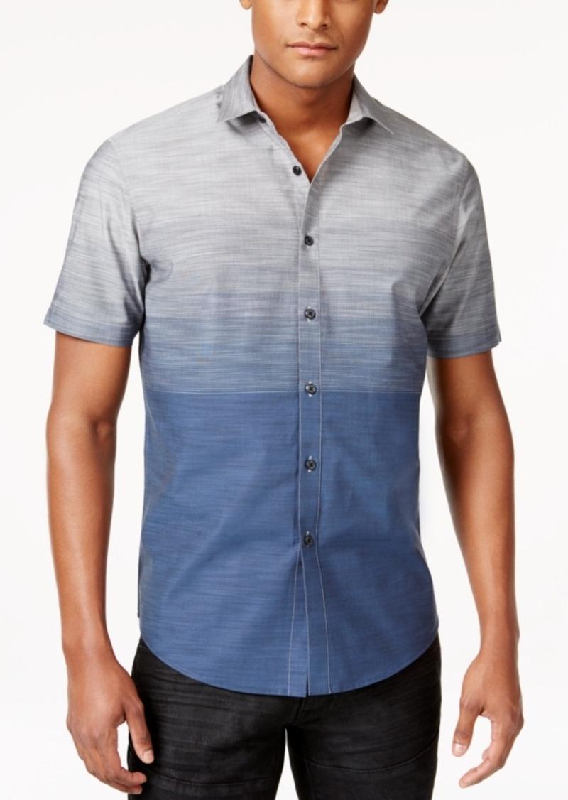 Inc Men's Zeddie Ombre Stripe Short-Sleeve Shirt, Created for Macy's