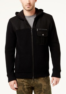 INC I.n.c. Men's Zip-Front Hoodie with Faux Fur Lining, Created for Macy's