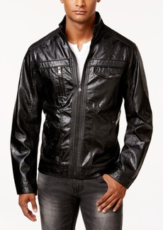 INC I.n.c. Men's Zones Faux Leather Jacket, Created for Macy's