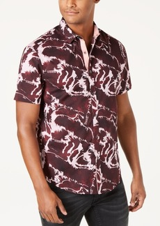 INC I.n.c. Men's Abstract Graphic & Text Shirt, Created for Macy's