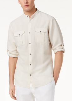 INC I.n.c. Men's Band Collar Fuji Shirt, Created for Macy's