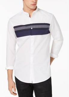 INC I.n.c. Men's Band Collar Shirt, Created for Macy's