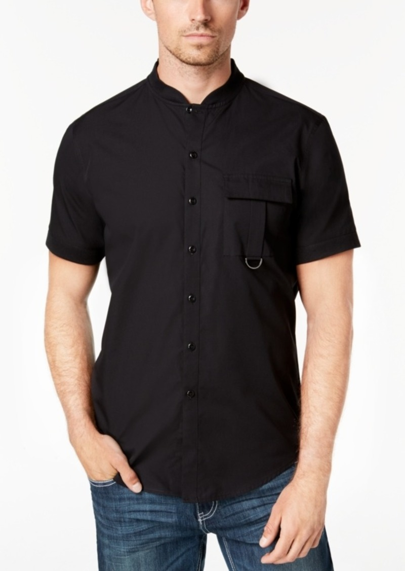Inc Inc Mens Banded Collar Shirt Created For Macys Casual Shirts