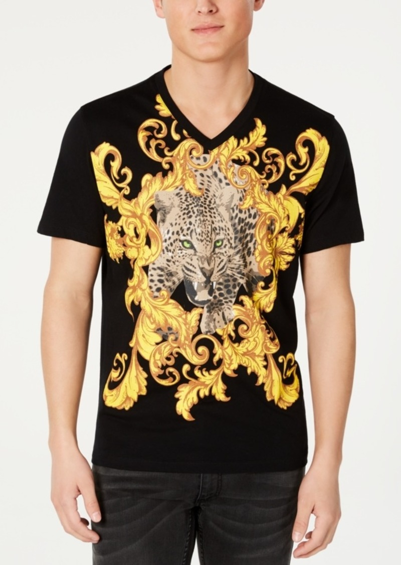 Inc Men's Baroque Foil Leopard T-Shirt, Created for Macy's