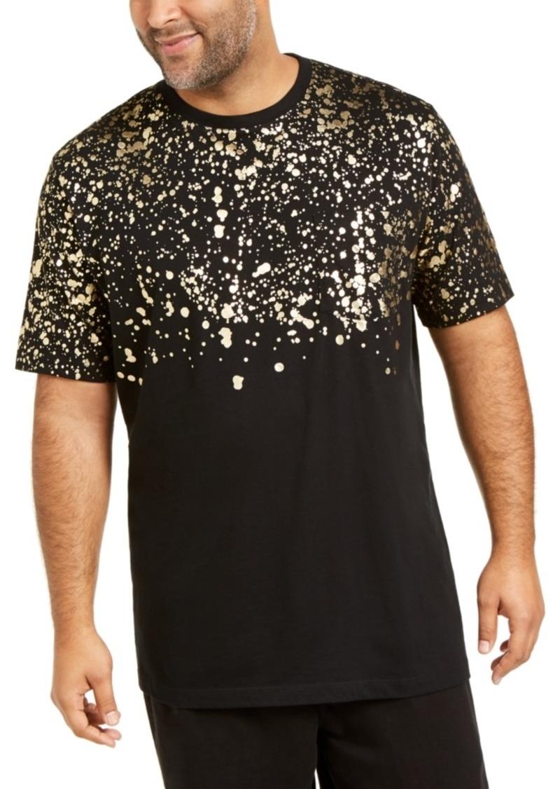 Inc Men's Big & Tall Gold Leaf Splatter T-Shirt, Created For Macy's