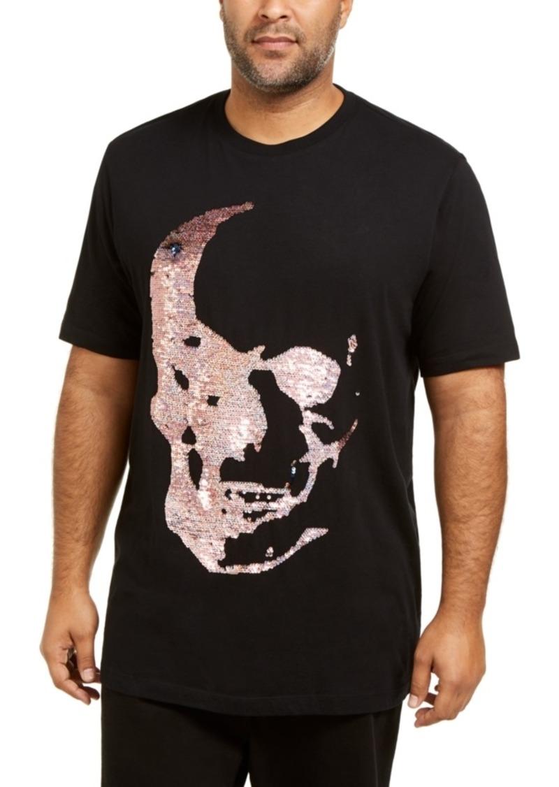 INC I.n.c. Men's Big & Tall Renew Sequin Skull T-Shirt, Created For Macy's