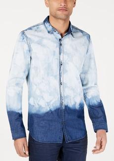 INC I.n.c. Men's Bleached Denim Shirt, Created for Macy's