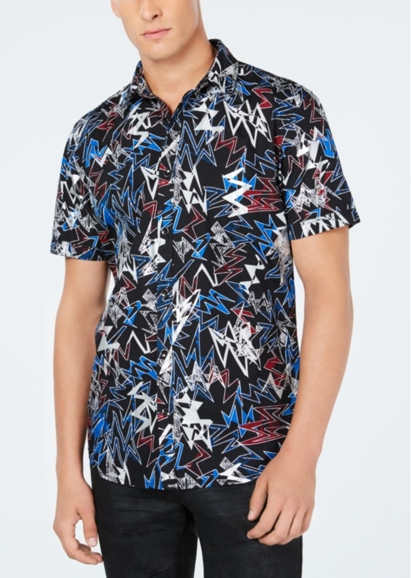 Inc Men's Bolt Printed Shirt, Created for Macy's