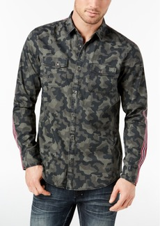 INC I.n.c. Men's Camo Taped Shirt, Created for Macy's
