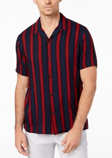 INC I.n.c. Men's Camp Collar Striped Shirt, Created for Macy's