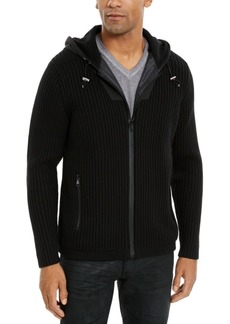 Inc Men's Casting Hooded Sweater Jacket, Created For Macy's