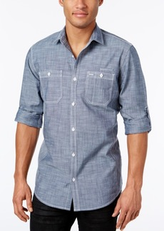 INC I.n.c. Men's Chambray Dual-Pocket Shirt, Created for Macy's