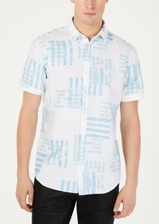 INC I.n.c. Men's City Stripe Shirt, Created for Macy's
