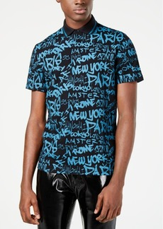 INC I.n.c. Men's City Text Polo, Created for Macy's