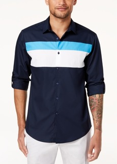 INC I.n.c. Men's Colorblocked Hybrid Shirt, Created for Macy's
