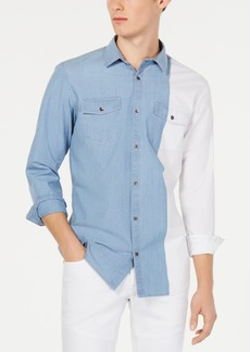 INC I.n.c. Men's Colorblocked Shirt, Created for Macy's