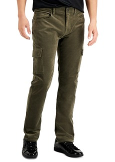 Inc Men's Corduroy Slim/Straight-Fit Cargo Pants, Created for Macy's