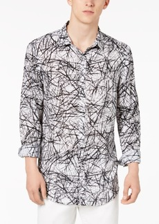 INC I.n.c. Men's Cross-Hatch Roll-Tab Shirt, Only at Macy's