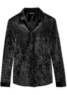 INC I.n.c. Men's Crushed Velvet Shirt, Created for Macy's
