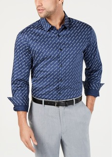 INC I.n.c. Men's Diagonal Text Shirt, Created for Macy's