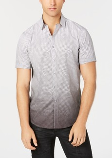 INC I.n.c. Men's Dip-Dyed Net Pattern Shirt, Created for Macy's