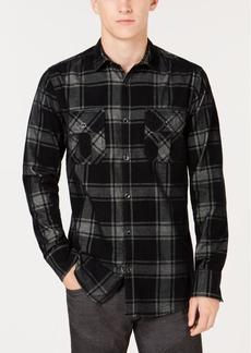 INC I.n.c. Men's Dual-Pocket Plaid Shirt, Created for Macy's