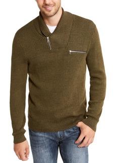 Inc Men's Echo Shawl Collar Zip Sweater, Created For Macy's