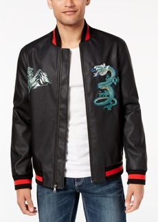 INC I.n.c. Men's Embroidered Dragon Varsity Bomber Jacket, Created for Macy's