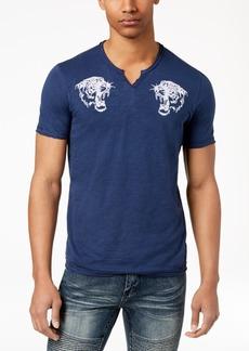INC I.n.c. Men's Embroidered Split-Neck T-Shirt, Created for Macy's