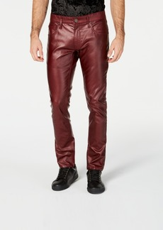 INC I.n.c. Men's Faux Leather Skinny Jeans, Created for Macy's