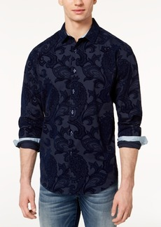 INC I.n.c. Men's Flocked Paisley Shirt, Created for Macy's