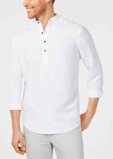 INC I.n.c. Men's Four-Button Linen Shirt, Created for Macy's