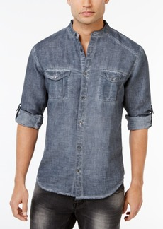 INC I.n.c. Men's Garment Dye Linen Shirt, Created for Macy's