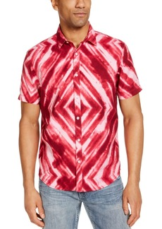 Inc Men's Geometric Watercolor Shirt, Created for Macy's