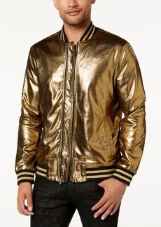 INC I.n.c. Men's Gold Foil Bomber Jacket, Created for Macy's