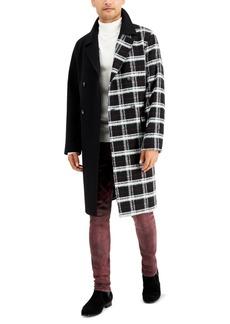 Inc Men's Half Plaid Topcoat, Created for Macy's