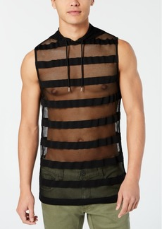 Inc Men's Hooded Striped Mesh Tank, Created for Macy's