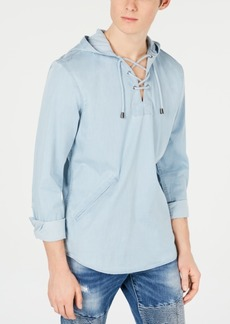 INC I.n.c. Men's Lace-Neck Hoodie, Created for Macy's