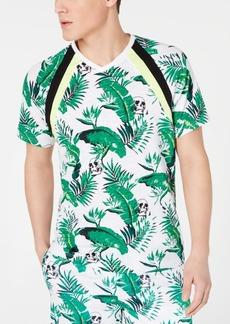 Inc Men's Botanical Skull Print T-Shirt, Created for Macy's