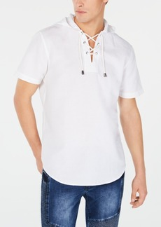 INC I.n.c. Men's Linen Drawstring Hooded Shirt, Created for Macy's