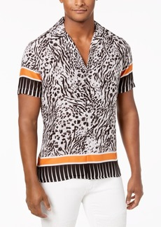 INC I.n.c. Men's Multi-Print Camp Collar Shirt, Created for Macy's